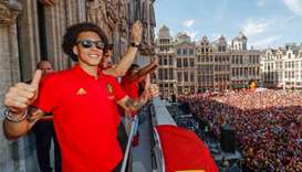 Belgium squad gets hero's welcome on World Cup return