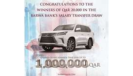 Barwa Bank announces fourth draw winners of salary transfer campaign