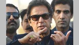 Imran Khan: used the word 'donkey' to describe Sharif supporters.