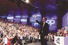 Former Spain ruling party swings right