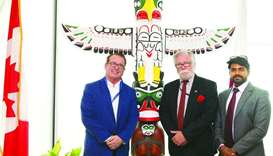 White Rock International president Douglas Power, Counsellor and Senior Trade Commissioner John Rodn