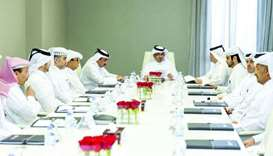 HE the Prime Minister being briefed on Qatar Civil Aviation Authority's strategic plans during his v