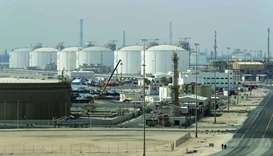 A view of the Ras Laffan Industrial City, Qatar's principal site for the production of LNG, some 80k