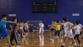 An activity at the Aspire Zone Foundation summer camp.