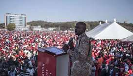 MDC-Alliance (Movement for Democratic Change Alliance) leader and opposition presidential candidate