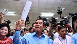 Cambodia ruling party claims 'huge victory' in election