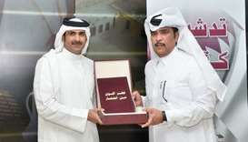 HE Sheikh Abdulrahman bin Hamad al-Thani, CEO of Qatar Media Corporation, and Saleh bin Afsan al-Kuw