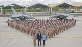 HH the Amir at Mont-de-Marsan airbase airbase