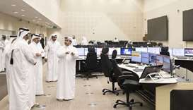 His Highness the Deputy Amir Sheikh Abdullah bin Hamad al-Thani  visits the control units of the met