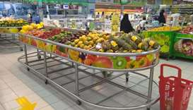 Fruit sales - A view from one of the hypermarkets