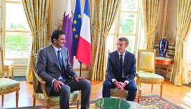 Amir hails strong ties between Qatar and France