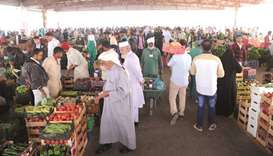 A view of the busy vegetable market at the Central Market in Abu Hamour.