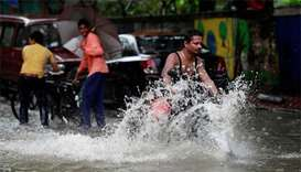 Heavy rains disrupt traffic, trains and schools in Mumbai