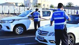Traffic Directorate officials carrying out checks during the 'Accident-free Summer' campaign.