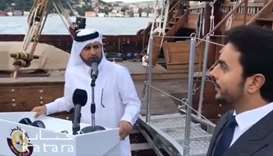 Dr Khalid bin Ibrahim al-Sulaiti speaking at the launch ceremony.