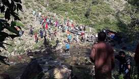 Bus falls into gorge in Indian Kashmir, killing at least 33