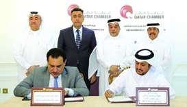 Qatar Chamber has signed a memorandum of understanding with the Federation of Iraqi Chambers of Comm