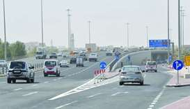 Al Gharrafa Bridge after the reopening