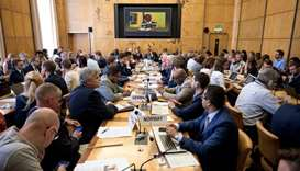 A general view of the meeting hold by the United Nations on the Ebola disease in Democratic Republic