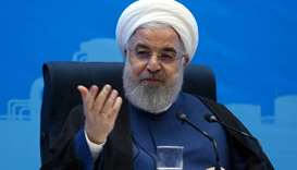 President Hassan Rouhani speaking the day before during an official inauguration ceremony for infras