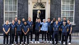 England's team with May