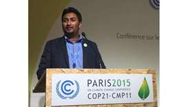 Young Sri Lankan expat campaigns for climate change in Qatar