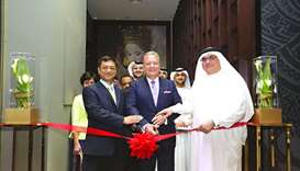Dignitaries at the opening of Benjarong Doha Restaurant.