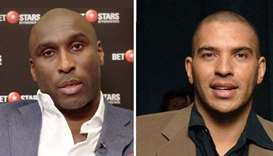 Sol Campbell (L) and Stan Collymore