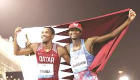 Barshim, Samba in action in London Sunday