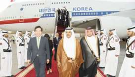 The Prime Minister of the Republic of Korea, Lee Nak-yeon, arrived in Doha Friday evening, on an off