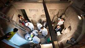 Experts open the ossuary at the Teutonic Cemetery, to help solve the 36-year-old disappearance of a