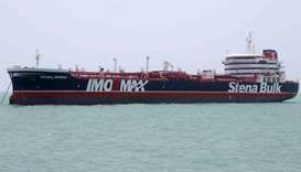 British-flagged tanker Stena Impero anchored in Bandar Abbas in southern Iran