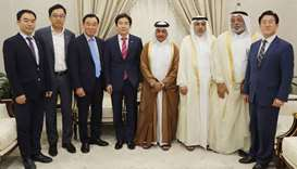 Shura Council officials meet Korean delegation
