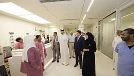 HE the Minister of Public Health Dr Hanan Mohamed al-Kuwari visiting the SICU