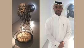'Fabricated Emergence (2019)' showcased at the Doha Fire Station Artist in Residence exhibition.