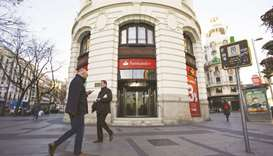 Banco Santander branch in Madrid