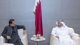 HE the Prime Minister and Interior Minister Sheikh Abdullah bin Nasser bin Khalifa al-Thani meeting