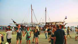 The dhow Fath Al Khair 4 proved to be a major attraction in the Greek port of Salonika.