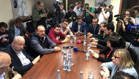 Russian opposition figures attend a meeting with members of the Presidential Council for Civil Socie