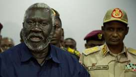 Sudan People Liberation Movement-North (SPLM-North) and Blue Nile state rebel leader Malik Agar (L)
