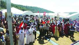 Qatari scouts during the 24th edition of the World Scouts Jamboree