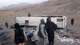 Afghanistan highway blast kills at least 35 on bus, injures 27