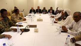 Members of the Sudanese Military Council and the movement the Alliance for Freedom and Change meet a
