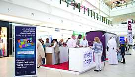 Qatar Rail booth offers information on Doha Metro