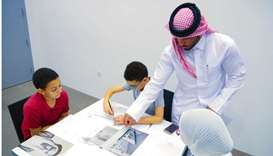 Art class at Qatar National Library