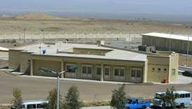 Iranian nuclear power plant of Natanz
