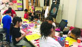 Field trip to Katara gives children hand-on experience in visual art