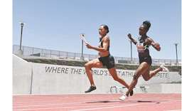 Track glitch foils Lyles as Felix stars in high-tech meet
