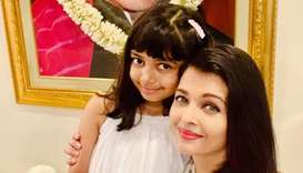 Bollywood actress Aishwarya Rai Bachchan with her daughter