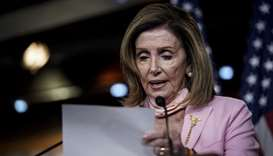 Speaker of the House Nancy Pelosi (D-CA) speaks during her weekly news conference on Capitol Hill on